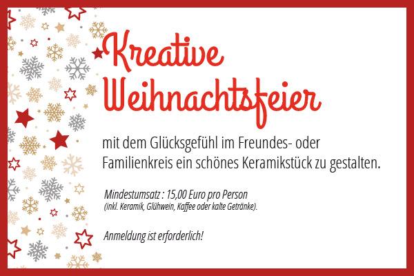 Weihnachtsfeier Erfurt.Weihnachtsfeier Keramika Das Malstudio